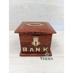 MONEY BOX SQ. SLOPED EDGE