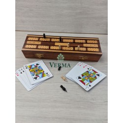 CRIBAGE WITH 2 DECK CARDS