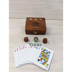 SINGLE CARD & DICE BOX 10X8CM