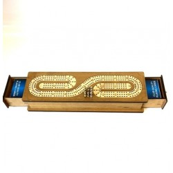 CRIBBAGE THREE TRACK METAL PEGS