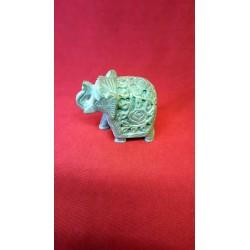 CARVED ELEPHANT SOAPSTONE