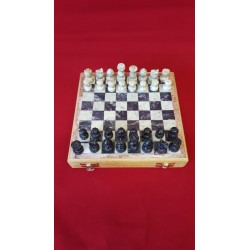 "Soapstone Carved Chess Set 8""x 8"""
