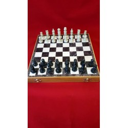 "Soapstone Carved Chess Set 12"" x 12"""