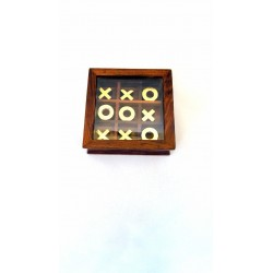 """Noughts & Crosses Brass 4""""x4"""""""
