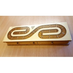 CRIBBAGE TWO TRACK WHITE BORDER