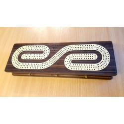 CRIBBAGE THREE TRACK BROWN BORDER