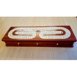 CRIBBAGE THREE TRACK ROSE BORDER