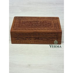 """Needle Carved Box 8""""x5"""""""