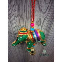 Single Elephant and Bell hanging
